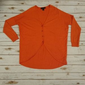 St. John Coral Button Up Cardigan L